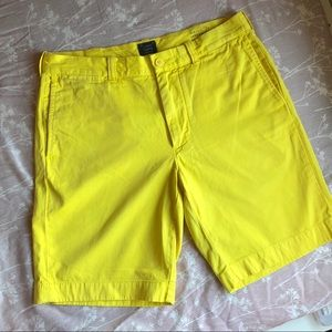 Men's J. Crew Yellow 9 Inch Stanton Chino Short